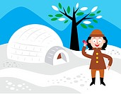Girl with igloo