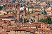 Bologna, Aerial view, Emilia Romagna, Italy, Europe.