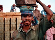 Workers at a brickfield in Chittagong, Bangladesh There are 6000_7000 brickfields in Bangladesh, usually situated outside towns and cities in the low_...