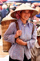 People Of Vietnam, Hmong market. Bac Ha. Sapa region. North Vietnam