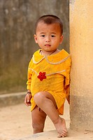 Little Boy in Cat Cat village Sapa, Lao Cai province, Vietnam