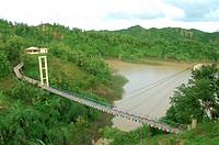 A hanging bridge, at the Echo Park, in Bamerchora, in Bashkhali, Chittagong, Bangladesh July 22, 2006