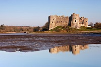 Carew Castle, Pembrokeshire, West Wales, UK