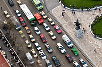 Traffic in Mexico City from the air