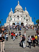 Paris, France, Tourists Visiting Sacre Coeur Basilica, Montmartre