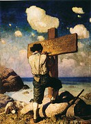 ROBINSON CRUSOE, 1920.Illustration, 1920, by N.C. Wyeth.