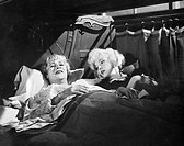 MARILYN MONROE (1926-1962).American cinema actress. With Jack Lemmon in 'Some Like It Hot,' 1959.
