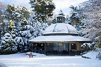 Magnesia Well Cafe in Valley Gardens in Winter Harrogate North Yorkshire