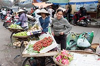 Fruit and Vegetable Vendors, Hanoi, Vietnam