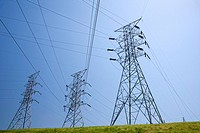 Lenoir City, Tennessee - Electrical transmission lines at the Fort Loudoun Dam, operated by the Tennessee Valley Authority