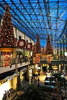 Shopping, centre, CentrO, with, christmas, decoration, Oberhausen, Ruhr, area, North, Rhine_Westphalia, Germany,