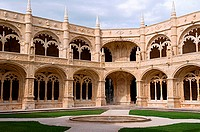 Interior view of the Mosteiro Dos Jeronimos