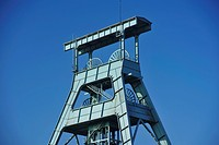 Shaft, tower, former, coal, mine, Ewald, Herten, Ruhr, area, North, Rhine_Westphalia, Germany,