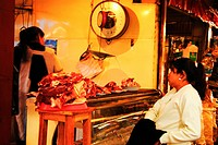 Butcher, women, meat, Bolivia