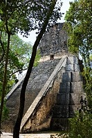 Temple V, Mayan ruins of Tikal  Peten region, Guatemala