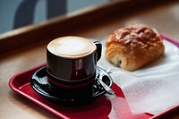 a hot drink and a sweet treat, tokyo, japan