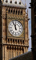 Big Ben clock tower, Houses of Parliament, London, England