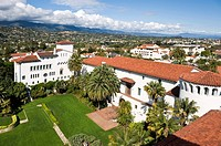 Rooftop view of Courthouse, Santa Barbara, California