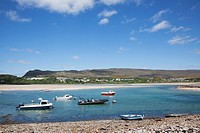 Boats On Bay, Mulranny, County Mayo, Ireland
