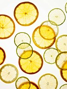Citrus slices arranges in Graphic Pattern