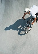 Teenager at Skateboard Park