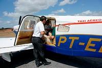 People, airplane, Airport Barreirinhas, City, Lençois Maranhense, Barreirinhas, Maranhão, Brazil