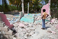 looking on with grief at what was once a home, port_au_prince, haiti