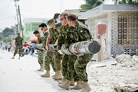 military hard at work to help rebuild haiti, port_au_prince, haiti