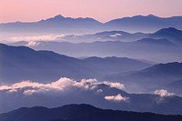 Mountain range seen from Mt. Norigatake, Nagano Prefecture, Honshu, Japan