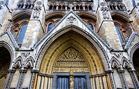 Detail of Westminster Abbey, Westminster, London, UK