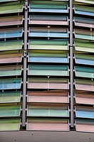 Multicolored glass windows