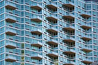 Balconies on an apartment building