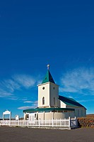 Church in Reykjahlid, near Myvatn Lake, Iceland