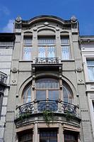 House, facade, Afrikastraat, Brussels, Belgium,