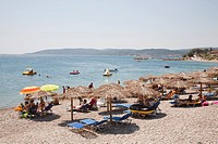 agia fotia, agia fotini beach, island of chios, north east aegean sea, greece, europe