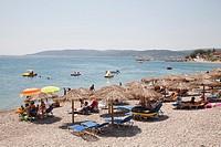 agia fotia, agia fotini beach, island of chios, north east aegean sea, greece, europe