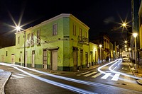 Corner of Camana and Rufino Torrico in central Lima at Night