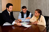 Older couple meeting with financial planner