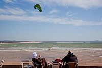Photograph of kite_surfing on the shores of the Moroccan city of Essaouira