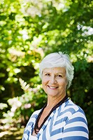 Cheerful senior woman portrait