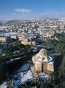 Aerial photograph of the Judean city of Bethlehem