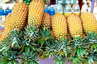 Pineapples for sale, Fort Cochin, Kerala (thumbnail)