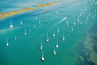 Boats in the water, Newport County, Rhode Island, USA