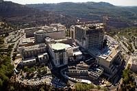 An Aerial view of Hadassah Ein Karem hospital