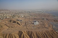 An aerial photo of Eilat