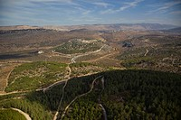 An aerial photo of the Lower Galilee