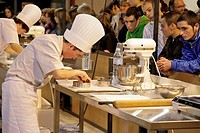 PASTRY COOK, PASTRY_MAKING AND CONFECTIONERY, 41ST OLYMPIAD OF METIERS IN BRITTANY, BREST, FINISTERE 29, FRANCE