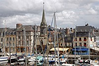 France, Normandy, Honfleur, the vieux bassin, church of Saint Etienne