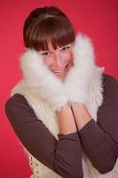 happy winter woman
