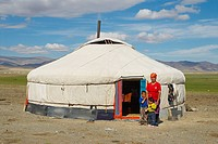 Mongolia, Bayan_olgii, national park of Tsambagarav, kazakh woman